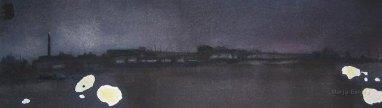 Valoja. n. 25x80cm. Vesiväri ja muste paperille.2006.
