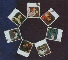 Taidetta kansalle. n. 22 x 25cm. Sekatekniikka paperille. 2006. Yksityisomistuksessa.