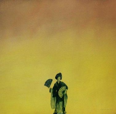 Geisha. 2009. 70 x 75 cm. Vesiväri ja muste paperille.