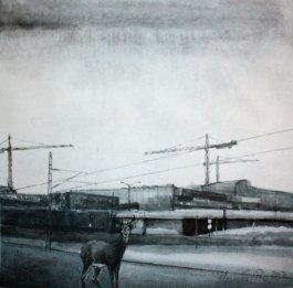 Kohtaaminen. Vesiväri paperille, n.23x23cm, 2012