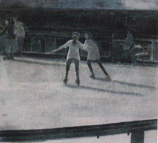 Luistinrata 2. n. 23x23cm. Vesiväri ja muste paperille.2007. Yksityisomistuksessa.
