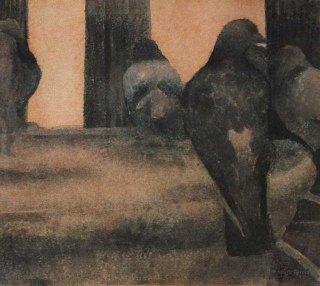 Pulut. n. 23x23cm. Vesiväri ja muste paperille.2007.