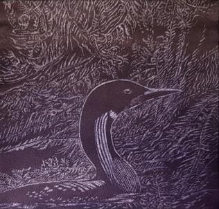 Tumma vesi lainehti. Vesiväri paperille. 21x22cm. 2019.